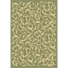 gramercy courtyard olive natural indoor outdoor area rug 4 x 5 7