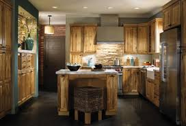 Rustic Kitchen Flooring Rustic Kitchen Floor Ideas With Wooden Cabinet And Grey Countertop