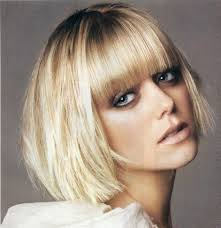 Hairstyles With Blunt Fringe Long Wavy Hairstyle With Blunt Bangs 2017