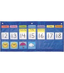 Weekly Calendar With Weather Pocket Chart