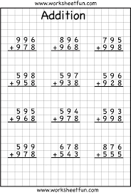 Grade 4   Math Worksheets  Horizontal Addition in addition Addition and Subtraction Elementary Math Worksheet   Free further Three Minute Timed Math Drill Sheets  Adding 4 6 with sums to 15 in addition  also Addition Worksheets   Dynamically Created Addition Worksheets moreover 4 Digit Addition With Regrouping – Carrying – 9 Worksheets   FREE furthermore Grade 4 math worksheet   Addition  adding whole hundreds  3 furthermore  as well 2  3  or 4 Addends with 5  6  or 7 Digits Worksheets   bear likewise First Grade Addition Math – EduMonitor likewise Grade 4   Math Worksheets  Horizontal Addition. on grade 4 addition math worksheets
