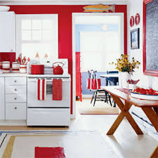 White And Red Kitchen Kitchen With Red Accessories And White Range Using Red Kitchen