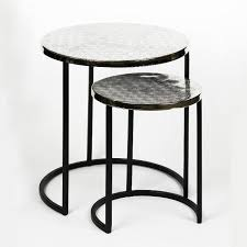 duetto side table set of 2 d35 h41