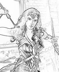 Female Superhero Coloring Pages Wonder Woman Coloring Page