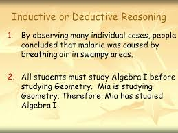 2.4 Deductive Reasoning 2.5 Postulates Geometry R/H Students will ...
