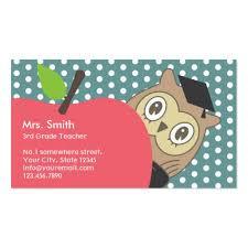 Premium Teacher Business Card Templates
