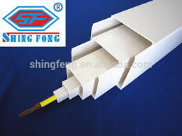 pvc electrical wiring gutter trunkings