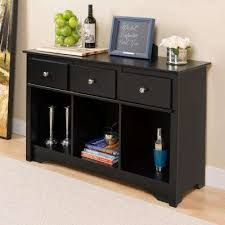 black sofa table with storage. Sonoma Black Storage Console Table Sofa With