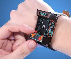 classic arcade wristwatch thinkgeek push button for lights sounds
