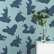 Teal Bedroom Wallpaper Dark Blue Animal Wallpaper For Kids Paperboy Boys Bedroom