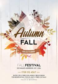 Fall Flyer Fall Autumn Festival Free Flyer Template For Autmn And Fall