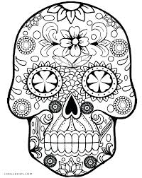 Coloring Pages To Color For Free Free Printable Sugar Skull Coloring