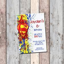 Personalized Superhero Birthday Invitations Superman Superhero Personalized Birthday Invitation 1 Sided