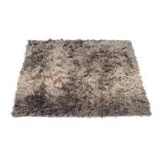 image 0 gray faux fur rug big x sheepskin area