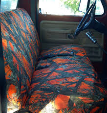 truck bench seat covers split camo chevy
