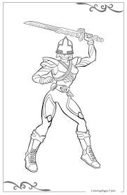 Power Rangers Free Coloring Page Template