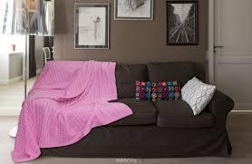 "<b>Плед вязаный Buenas Noches</b> ""Manhattan"", цвет: розовый, 180 х ..."