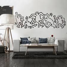 Zz1369 Moderne Abstrakte Leinwand Keith Haring Segeltuch ölgemälde