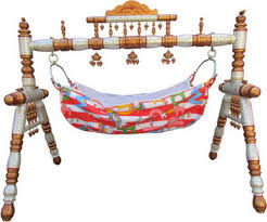 hastakala bazaar baby cradle wooden baby swing folding cradle strong wooden cradle copper white in india compare s