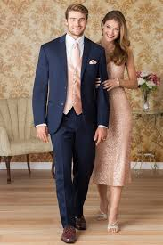 Tuxedo To Match Light Blue Dress Make Sure His Vest And Tie Match Your Rose Gold Gown