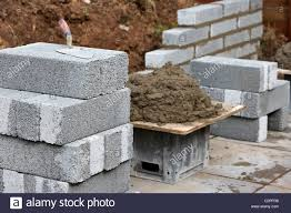 Small Picture bricklaying wall with half cement breeze blocks building a block