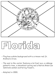 Florida State Symbols Coloring Pages United States State Emblems