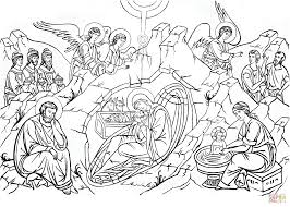 Nativity of Christ coloring page   Free Printable Coloring Pages