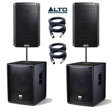 Pa Subwoofer Cabinet Design Alto Ts2155 Speakers Tssub18 Subs Pa Package Getinthemix Com