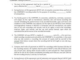 music management contract manager contract template sample music contract template