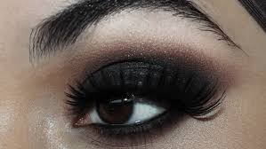 the black smokey is both clic and perfect it will provide you with an outstanding appearance for a night out at the club for starting makeup your eyes
