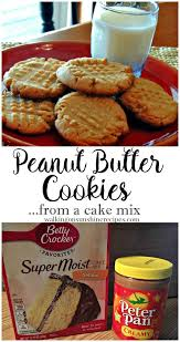 Peanut Butter Cookies From A Cake Mix Recipe Recipes Cookies