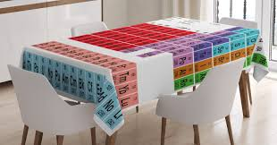 school rectangle table. School Rectangle Table. Periodic Table Tablecloth, Kids Children Educational Science Chemistry For Students B