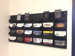 Wall Mount Business Card Holder 24 Pockets Wacrylic Construction