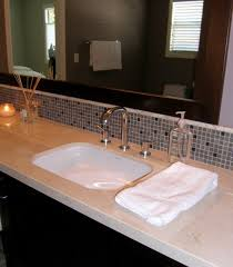 stunning bathroom glass tile backsplash
