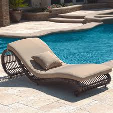 kauai outdoor wicker pool chaise lounge chair set of 2 modern poolside lounge chairs