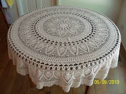 free patterns crochet round tablecloths manet for