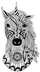 Libro Da Colorare Disegno Doodle Unicorno Unicorno 5641008 Png