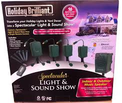 Holiday Brilliant Lights Remote Spectacular Light And Sound Show And 3 Satellite Receivers