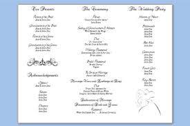 wedding program template free word free tri fold wedding brochure templates wedding program template 64