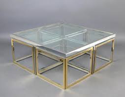 Vintage Large Glass And Metal Coffee Table 5. On Hold
