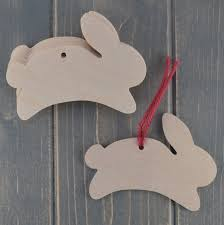 easter bunny wooden craft shapes