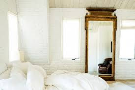 How To Clean Bedroom Walls Custom Painted Brick Wall Ideas And Inspiration Photos Architectural Digest