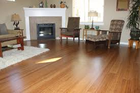 strand woven bamboo flooring living room installation photo bend oregon