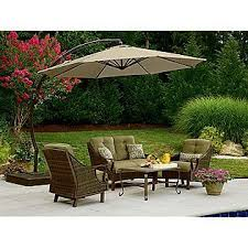 garden oasis umbrella. Exellent Umbrella 115 Ft Steel Round Offset Umbrella W Sand Base Garden Oasis  Mi Casa  Pinterest Umbrella Oasis And To