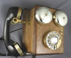 antique wall phone wooden hand crank stromberg carlson antiques center