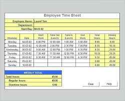 Biweekly Timesheet Excel Weekly Template Excel Payroll Timesheet Without Synonym