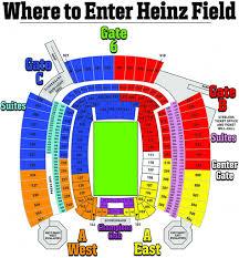 Heinz Stadium Seating Chart Heinz Field Seating Chart Seating Chart