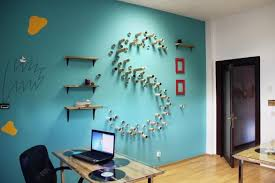 Small Picture Bright Colors and Creative Wall Decorations for Modern Office Design