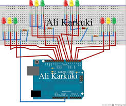 traffic light 4 way using arduino uno 5 steps traffic light 4 way using arduino uno