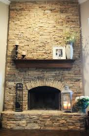 Painted Stone Fireplace Images Veneer Stacked Slate Pictures With Austin Stone Fireplace